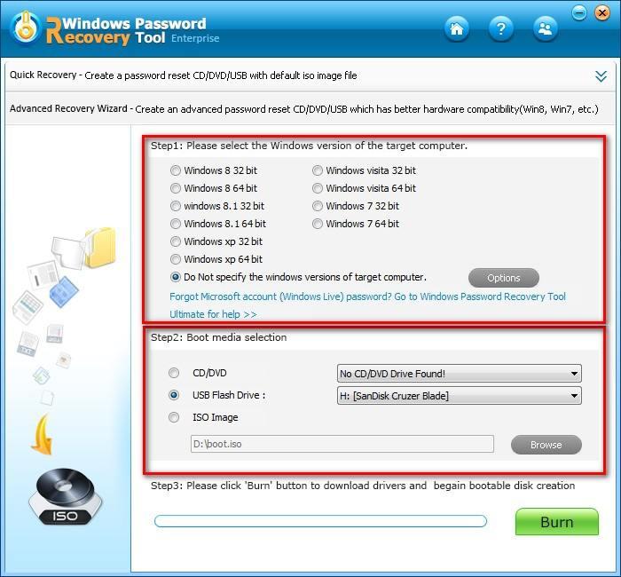 recover windows admin password