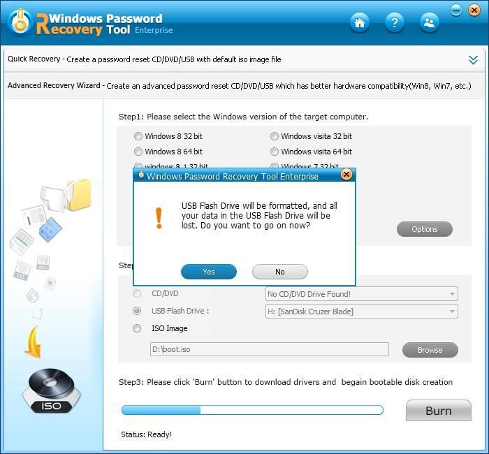 change windows password