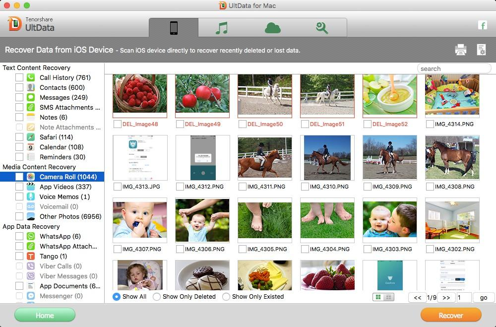 preview photos from iOS device