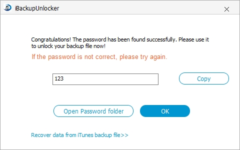 disable iphone backup password