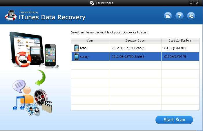 recover data from itunes backup files