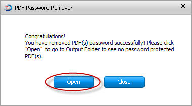 how to remove pdf owner password