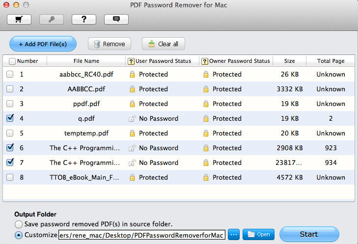 remove pdf file password on mac os x