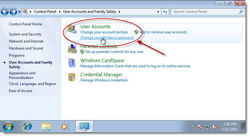Change windows 7 password on a regular basis to secure for Change windows
