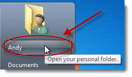 click on user accounts icon windows7