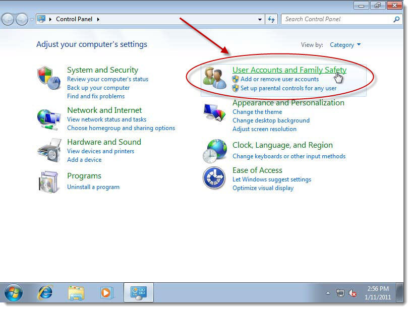 change computer name and password windows 7
