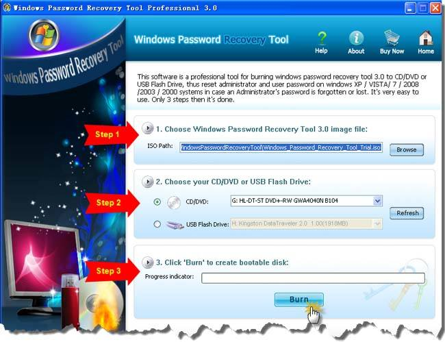 Create a Windows 7 Password reset disk