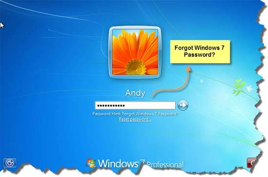 Forgot Windows 7 Password? Help You Recover Forgotten