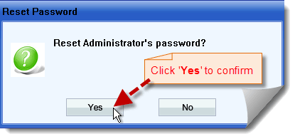 confirm reset xp administrator password