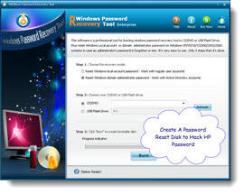 create a dell password reset disk