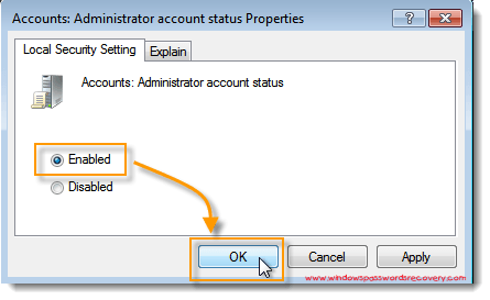 change password on windows 7