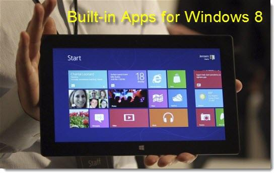 Built-in Apps for Windows 8