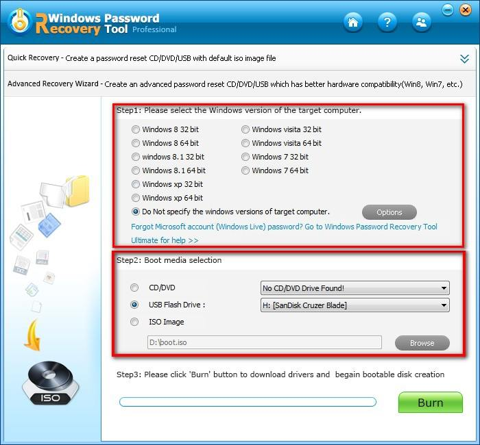 recover windows admin password