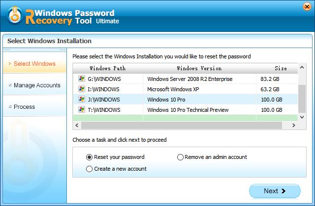 change xp password
