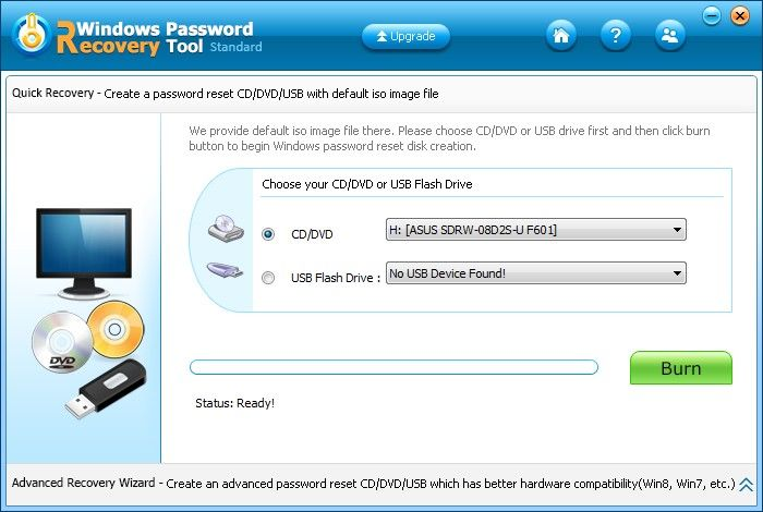 acer aspire password reset