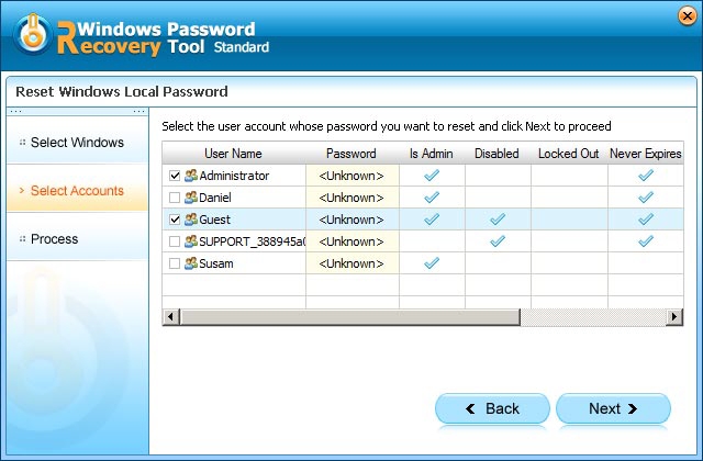 acer netbook password reset
