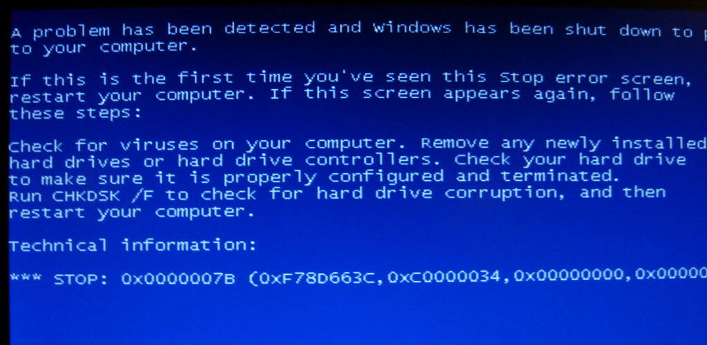why blue screen of death