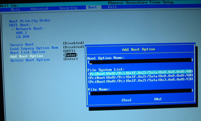 set dell boot menu