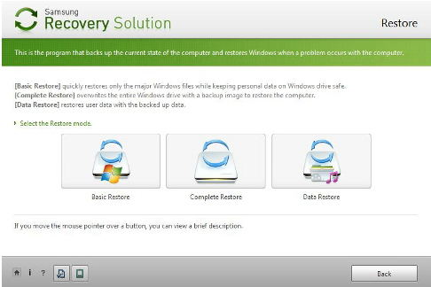 recovery laptop samsung