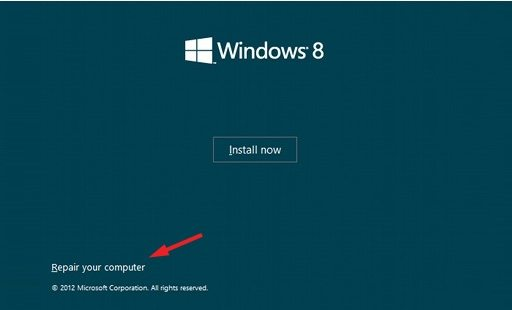 fix windows 8 mbr