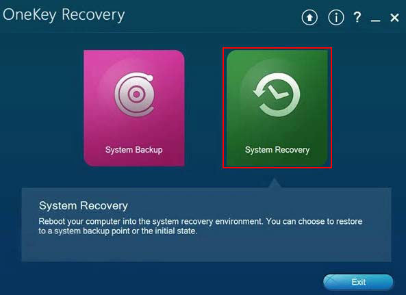 Lenovo Onekey Recovery program