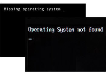 missing operating system at boot