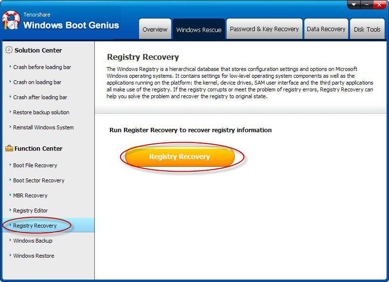 windows 7 registry repair