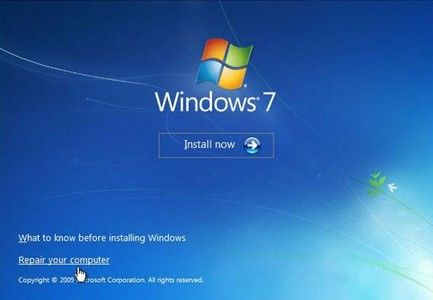 windows 7 missing operating system