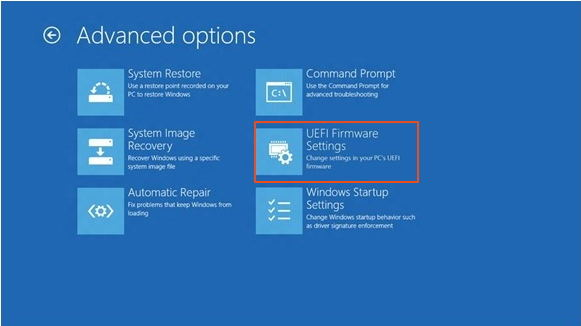 windows 8 uefi firmware settings