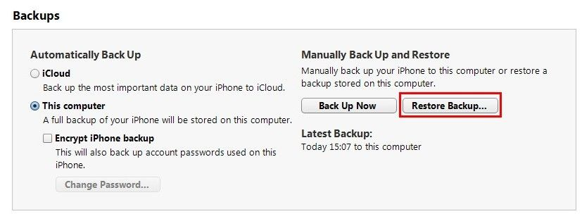 restore ipad 4 from backup