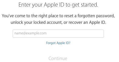 recover password for appld id