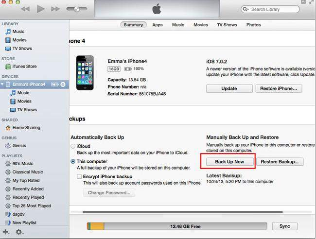 How to Backup iPhone 5s/5/4s/4 before iOS 7 Jailbreak