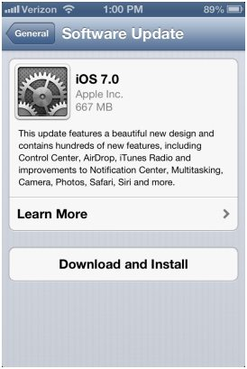 upgrade to ios 7