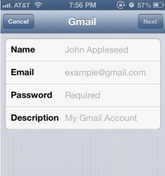 how to setup gmail on iphone 5