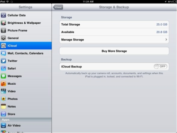 how to set icloud backup