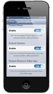 how to lock pictures on iphone
