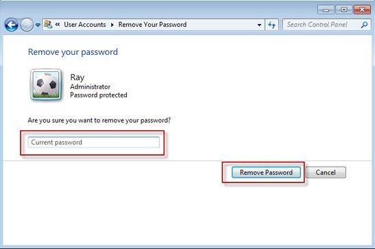 log on windows 7 without password