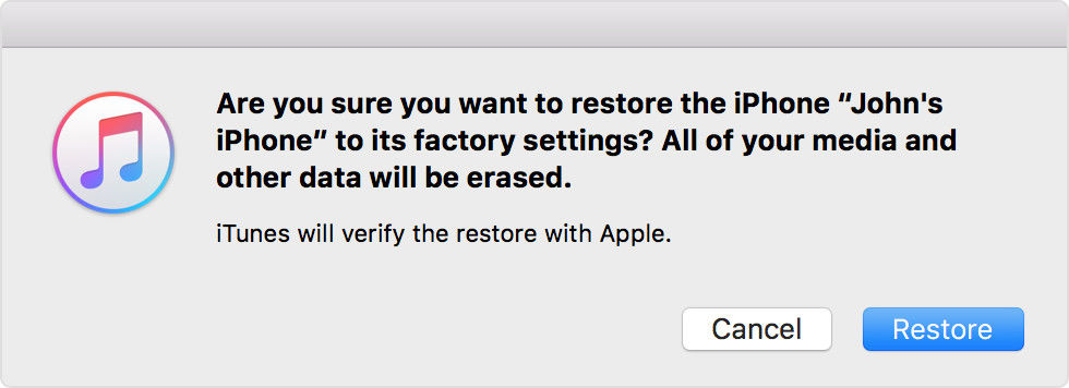 how do you restore iphone 5 to factory settings