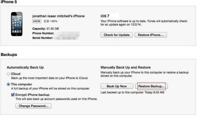 How to Recover Lost or Deleted Photos from iPhone 5 after iOS 7 Update