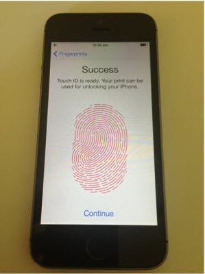 how to set up touch id on iphone 5s