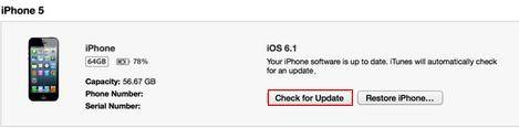 update ios 6.1.4 for iphone 5