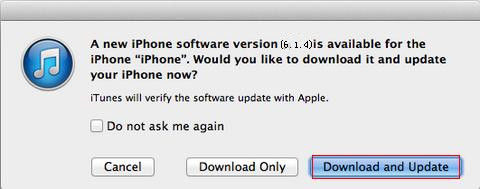 how to update iphone 5 to ios 6.1.4