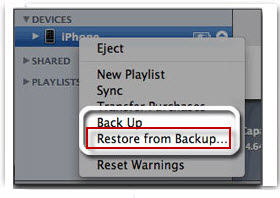 access itunes backup
