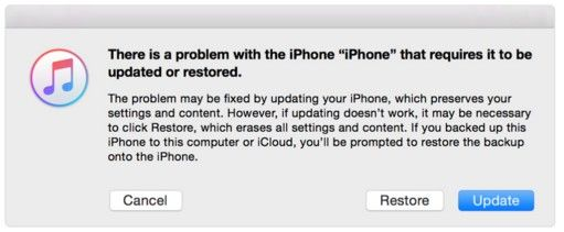 restore or update red iPhone 7