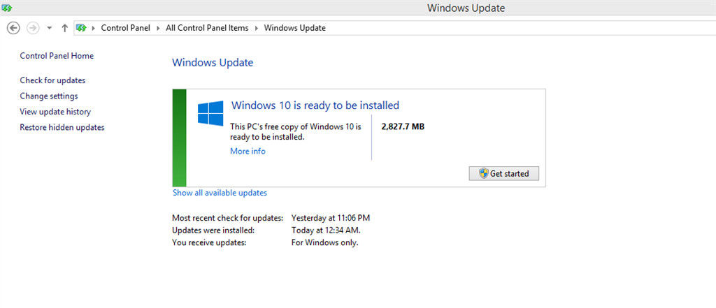 how to start windows 10 update manually