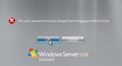 windows server 2008 password