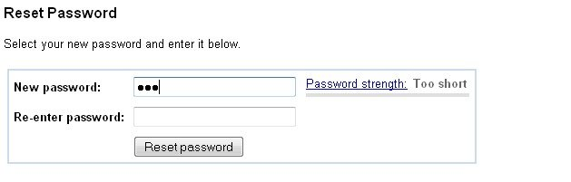 recover google account password