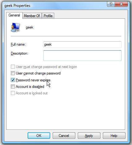 enable password expiration on window 7