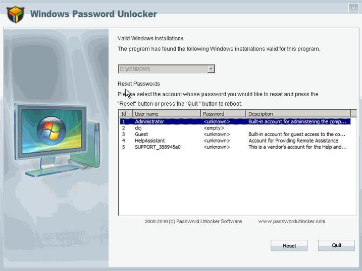 Top 6 PC Unlocker to Recover Forgotten Password in Windows 8 1/8/7