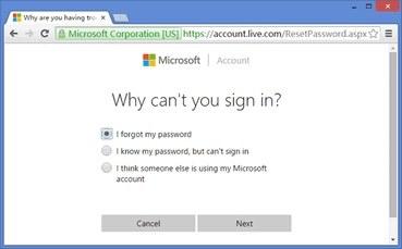 change password microsoft surface